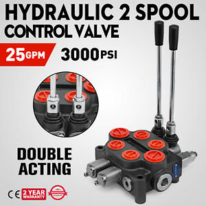 2 Spool 25gpm Rd522ccaa5a4b1 Hydraulic Valve Double Acting Motors 3000psi
