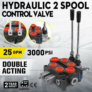 2 Spool 25gpm Rd522ccaa5a4b1 Hydraulic Valve Tanks Log Splitters 3000psi