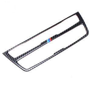 Real Carbon Fiber Center Control Decal Emblem Protection Pad For Bmw 3 Series Gt