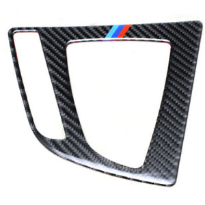 3 Real Carbon Fiber Gear Shift Decal Emblem Protection Pad For Bmw 3 Series Gt