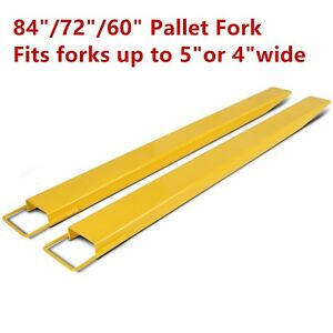 60 72 84 Steel Pallet Fork Extensions For Forklifts Lift Truck Slide On Clamp
