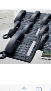 Panasonic Phone System Kx t7730 Black 7 Phones Kx t824 Pbx