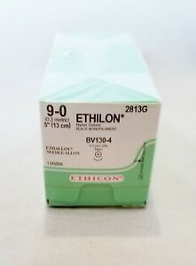 Ethicon 2813g Ethilon Nylon Non absorbable Suture pack Of 12