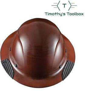 Lift Safety Hdf 15ng Dax Natural Brown Full Brim Hard Hat W Ratchet Suspension