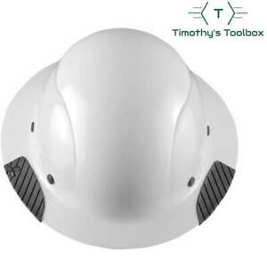 Lift Safety Hdf 15wg Dax White Full Brim Hard Hat