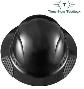 Lift Safety Hdf 15kg Dax Black Full Brim Hard Hat