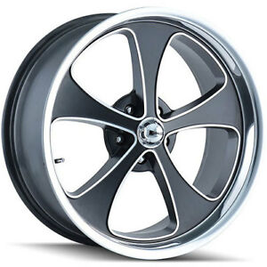 The Wheel Group 645 7761mbp Ridler 645 Series Matte Black W polished Lip Wheel