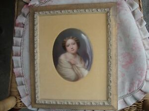 Antique Germany Porcelain Plaque