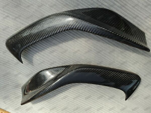 Carbon Fiber Headlight Eyelids Eyebrows For 1997 2001 Honda Prelude 1998 2000