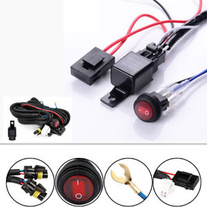 Off Road 12v 40a Led Work Fog Light Bar Wiring Harness Relay Kit Switch On Off
