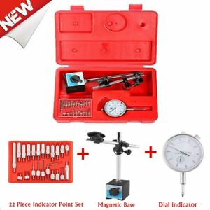 2 In 1 Dial Indicator Magnetic Base Point Precision Inspection Set New Bt