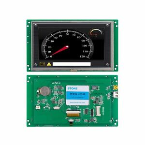 7 Inch Hmi 800x480 Tft Lcd Uart Hd Stone Brand Monitor Full Color Screen Rs2