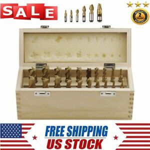 Set Of 20 Pc Tin Coated End Mill Set 2 4 Flutes Cutting Tools Free Shipping Be