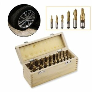 20 Pc Titanium Spiral End Mill Cutter Cutting Bit Tool Set Kit For Milling Be