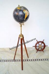 Modern Retro Authentic World Globe With Tripod Stand Globe Christmas Gift Gn