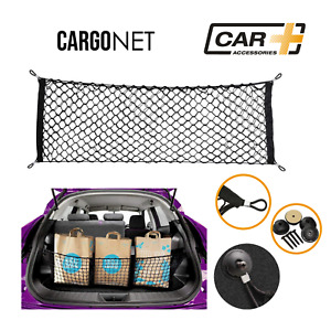 Car Trunk Rear Cargo Net Organizer Storage Elastic Mesh Holder Universal Nylon