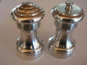 Cartier Sterling Silver Salt Shaker And Pepper Grinder Hallmarked Nice Condition