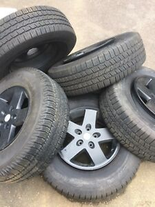 4 Or 5 Wheels And Tires For Jeep Wrangler