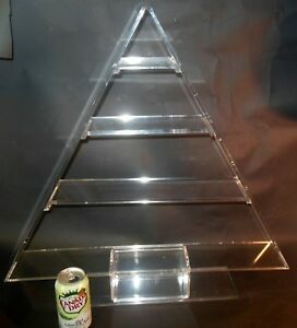 Rare Mid Century Modern Lucite Acrylic Christmas Tree Display Shelf