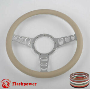 15 5 Billet Steering Wheels Tan Street Rod Ford Gm Corvair Impala Chevy Ii