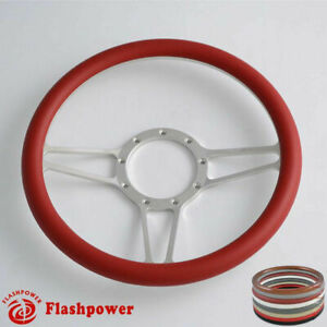 14 Billet Steering Wheels Burgundy Half Wrap Custom Corvette Camaro Impala