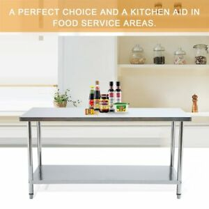 70 X 35 Commercial Stainless Steel Work Table Food Prep Kitchen Restaurant Rf