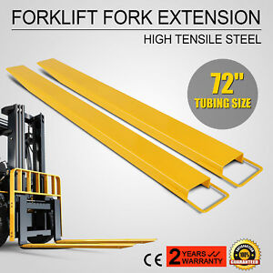72 X 5 9 Forklift Pallet Fork Extensions Pair Strength Lengthen Retaining