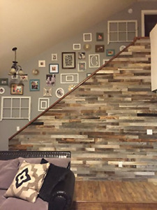 Reclaimed Wood Wall Paneling Pack 3 Wide Or 5 Wide Slats Of 10 Square Feet For