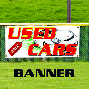 Used Car Sale Retail Auto Dealer Lot Toyota Indoor Outdoor Vinyl Banner Sign