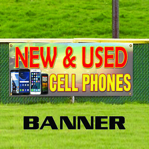 New Used Cell Phones Iphone Ipad Samsung Indoor Outdoor Vinyl Banner Sign