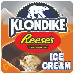 Ice Cream Klondike Reeses Concession Food Cart Truck Menu Sign Sticker Decal