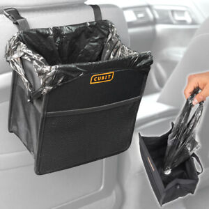 Dispensing Car Trash Bag Garbage Can Headrest Waste Bin Litter Storage Holder