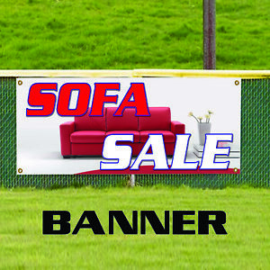 Sofa Sale Furniture Leather Couch Indoor Outdoor Vinyl Banner Sign