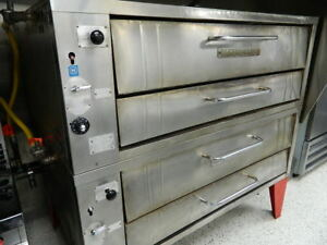 Bakers Pride 452 Natural Gas Double Deck Pizza Ovens 451 Cleaned Tested