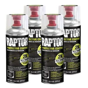 U Pol 4883 Raptor 2k Black Spray On Truck Bedliner Aerosol 4 Pack 13 2 Oz