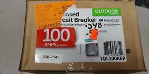 Ge Tql100rep Circuit Breaker Enclosure 240v 100a With 100a Outdoor New
