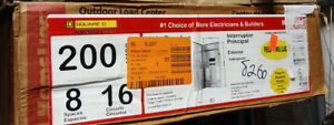 Square d 200 amp 8 space 16 circuit Outdoor Main breaker Box Panel Load center