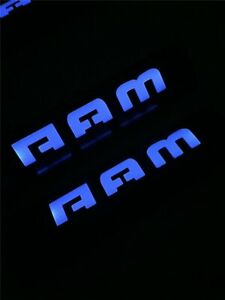 For Dodge Ram 1500 2500 3500 2009 2018 Blue Led Light Stainless Door Sill Scuff