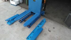 Semi electric Tilter Pallet Jack Lift Tilting Removable Hydraulic Battery Power