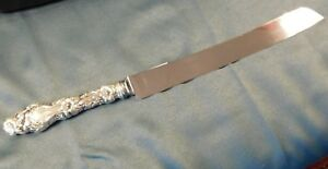 Sterling Gorham 12 5 8 Cake Bread Knife Lily No Mono Same As Whiting