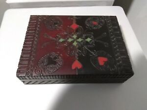 Carved Wood Box Never Used
