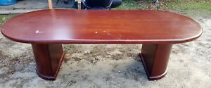 8 Ft Oval Wood Conference Table