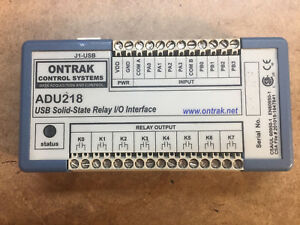 Ontrak Control Systems Adu218 Usb Solid state Relay I o Interface