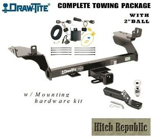 Class 3 Trailer Hitch Package W 2 Ball For 2017 2018 Ford Escape Except Se