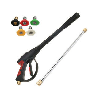 3000psi Spray Gun And Wand lance With 5 Tips Kit For Power Pressure Washer Water
