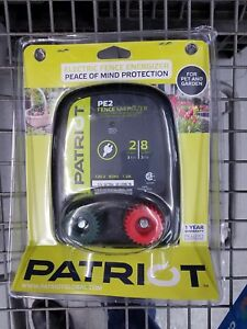 Patriot Pe2 Electric 110v ac Fencer 2 Mile 8 Acre Fence Energizer Charger Post