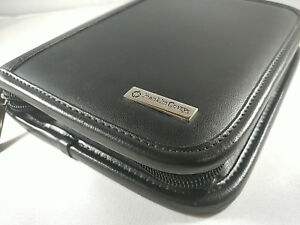 Franklin Covey Compact 6 Rings Zipped Planner binder Black Leather