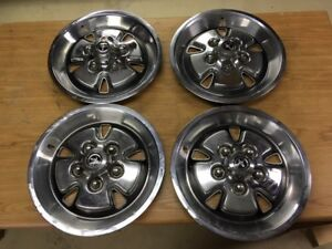 1971 1973 Ford Mustang Faux Mag Hubcaps 14 X 6