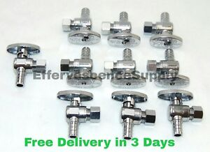 10 1 2 Pex Crimp X 3 8 Od Comp Angle Stop Valves 1 4 turn Lead free