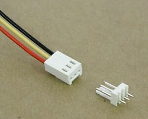 3 pin Connector With Pc Mount Header 0 10 Spacing 22 Awg Wire qty 49